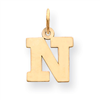 14k gold initial N charms block letter N high polish measures 34 h weighs 04g